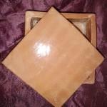 Boîte carrée terre rouge émaillée naturel 10,5 x 10,5 cm : 13 €