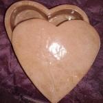 Boîte cœur terre rouge émaillée naturel 13 cm : 14 €