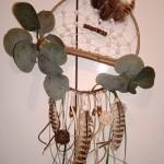 Attrape rêves nature marron et feuilles 20 cm